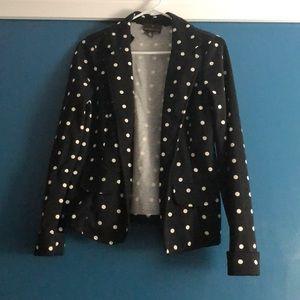 Polka dot comfy blazer